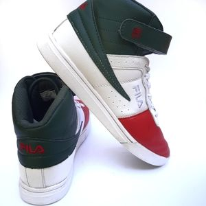🌿50%OFF🌿 Fila Vulc 13 red green white midtop